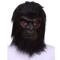 Máscara De Gorila Macaco Tipo Touca Confortável E Realista!