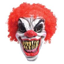Horror Adulto Máscara Do Palhaço Espuma Com Red Afro Cabel