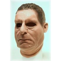 Máscara Espuma Latex Realista Profissional Homem Mafioso