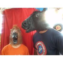 Máscara De Cavalo Latex Cabeça Inteira Pronta Entrega