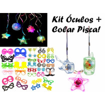 Kit C/ 50 Óculos + 100 Colar Pisca - Festa, Casamento