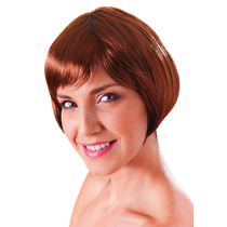 Peruca - Flirty Womens Ladies Flick Bob Glamour Sexy Brown