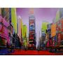Times Square Manhattan Nova Iorque Nasdaq Broadway Quadro