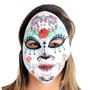 Máscara Caveira Mexicana Flor Adulto Sulamericana