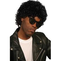 Michael Jackson Costume - Black Olhar Molhado Curly Peruca F