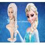 12 Peruca Elsa Frozen Cosplay Adulto, Infantil + Brinde
