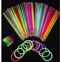 Pulseiras De Neon Coloridas Para Festas Com 100 Unidades