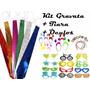 Kit Festa 50 Gravata + 50 Tiara + 50 Óculos - Frete Grátis!