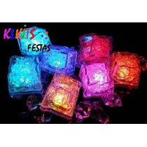 Kit 50 Gelo Pisca Cubo Festa Casamento Formatura Balada Led