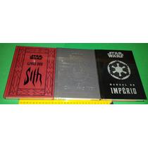 Star Wars Livro Dos Sith + Caminho Jedi + Manual Do Império
