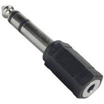 Plug Adaptador Extensão Com Entrada P2 X P10 Stereo Otimo