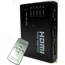 Hub Switch Hdmi 5 Portas Splitter Full Hd + Controle Remoto