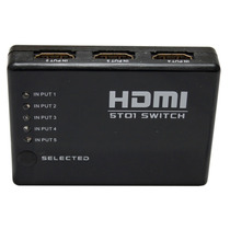 Hub C/ Dispositivo Hdmi Switch Splitter 6portas Hdmi-l032ls