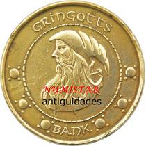 Medalha Moeda Gringgots Harry Potter Moeda De 1 Unum Galleon