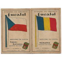 Estampa Eucalol Bandeiras Da Europa Série 11 Estampas 2 E 4