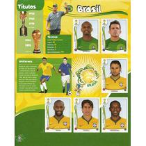 Encarte 6 Figurinhas Copa 2014 Brasil Extra Panini Raro