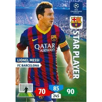 Cards Champions League 2013/14 Star Player Messi Barcelona