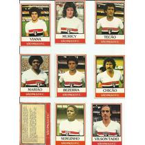 Futebol Cards Ping Pong Time Do São Paulo Com 18 Cards.