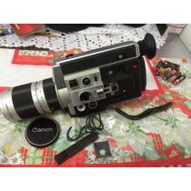 Câmera Filmadora Canon Auto Zoom 1014 Super 8 Com Caixa