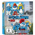 Smurfs Blu-ray Steelbook 2d E 3d Gift Set C/ 3 Bonecos Smurf