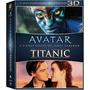 Box Blu-ray 3d Avatar + Titanic (6 Discos) #frete Grátis#