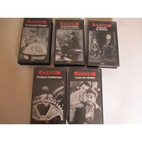 Vhs- Os Grandes Filmes De Chaplin- 5 Volumes