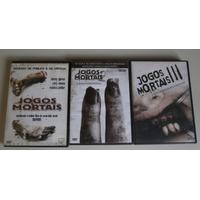 Lote 3 Dvds - Jogos Mortais 1, 2 E 3 - Terror, Original