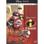 Dvd Os Incríveis Disney Pixar Clássicos Original Novo