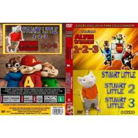 Coleção Alvin Os Esquilos 1,2 E 3 + Stuart Little 1,2 E 3