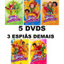 5 Dvds 3 Espiãs Demais