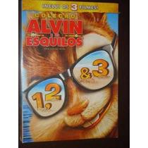 Alvin E Os Esquilos Dvd 1, 2 E 3 Lacrado Com Luva