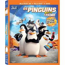 Blu Ray - Os Pinguins De Madagascar - O Filme ( 3d + 2d)