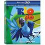 Rio Bluary 3d / 2d + Dvd C/ Luva Lacrado De Fabrica