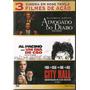 Dvd Triplo Advogado Do Diabo/um Dia De Cão/city Hall - Novo