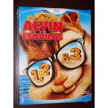 Blu Ray Trilogia Alvin E Os Esquilos 1 2 E 3 Dublado Lacrado