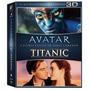 Box : Avatar + Titanic - 6 Discos - Original Blu-ray 3d + 2d
