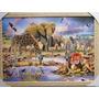 Quadro Arca De Noe 73 X 53 Cm Elefante Zebra Girafa Leão