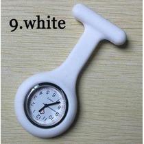 Relógio De Lapela Em Silicone Para Enfermeiras Branco