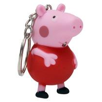 Chaveiro Peppa Pig Com Som E Lanterna George Bebê Nenem