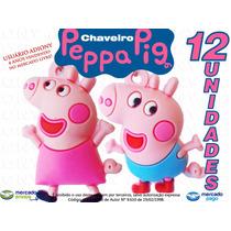 Chaveiros Peppa Pig -pct C/12 Unids(6 De Cada)- Lembrancinha
