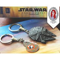 Kit Chaveiros Star Wars Nave Millennium Falcon + Droide Bb-8