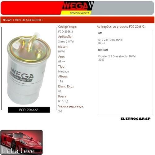 Filtro De Combustível - Xterra 2.8 Tdi 07 Em Diante
