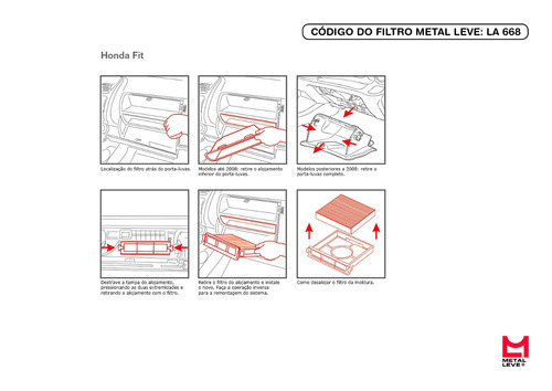Filtro Do Ar Condicionado Honda Fit 2009 Em Diante E City