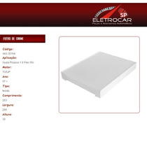 Filtro De Ar Condicionado Citroen Xsara Picasso 1.6 Flex 16v