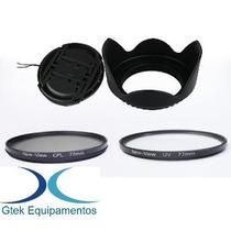 Filtro Uv Cpl Polarizador Parasol 52mm P/ Nikon D5100 D5000