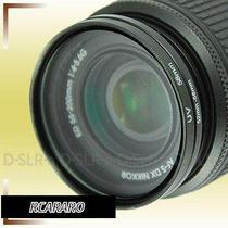 Filtro Protetor Uv 52mm Para Camera Nikon Lente 18-55mm