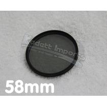 Filtro Polarizador 58mm * Canon Nikon Panasonic Sony