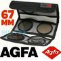 Agfa Kit 3 Filtros: Uv Cpl Warm Canon Nikon 67mm Igual Hoya