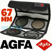 Agfa Kit 3 Filtros: Uv Cpl Warm Canon Nikon 67mm Igual Hoya