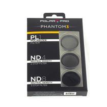 Polar Pro Kit 3 Filtros Phantom 4 E 3 Pro Adv Pronta Entrega